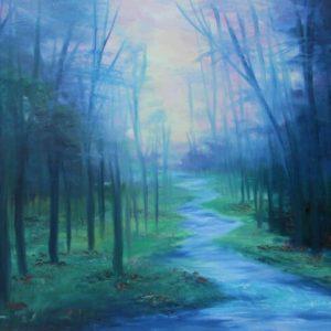 זרימה ביער 60-80 Stream in the Forext