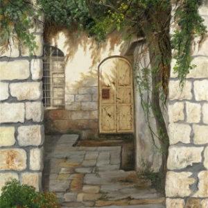 חצר ירושלמית טיפוסית 40-60 Classic Jerusalemite Courtyard